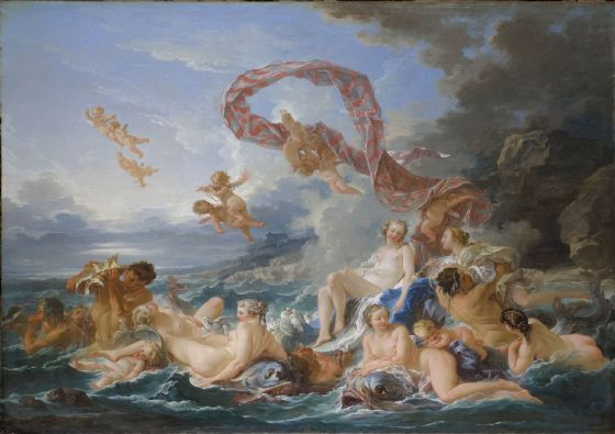 Boucher, Francois: The Triumph of Venus. Fine Art Print/Poster. Sizes: A4/A3/A2/A1 (00138)